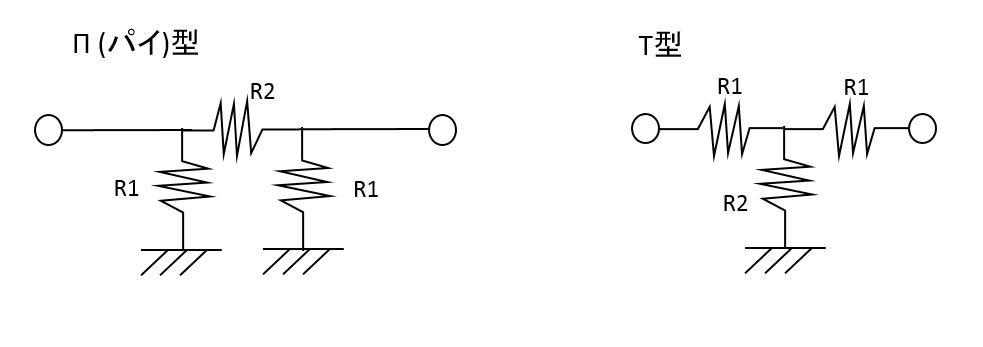 アッテネータ_回路図_T_pie